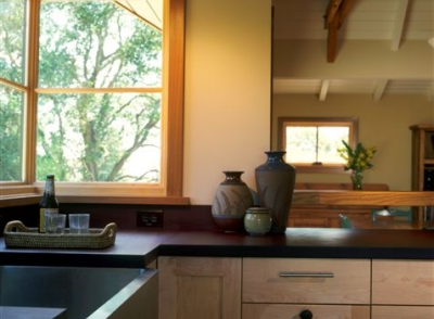 green remodeled kitchen