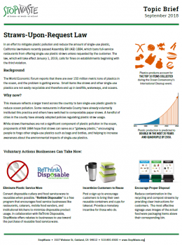 Straw Upon Request Topic Brief