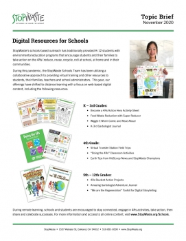 Topic Brief Thumbnail Image - Online Resources for Schools